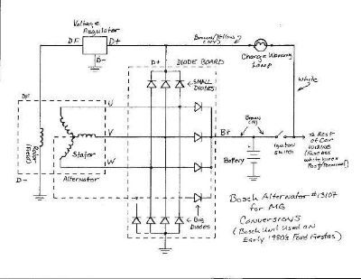 Alternator Wiring Diagram on Of This Bosch Alternator S Internal Circuits Is Given Below