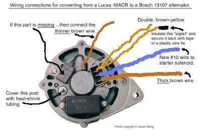 Bosch Alternator Wiring Diagram: Muenchausen's Garage,
