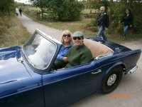 Jackie and I in the TR4.JPG